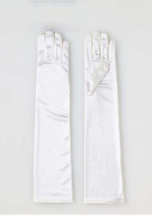 Adult Long Ivory Satin Gloves