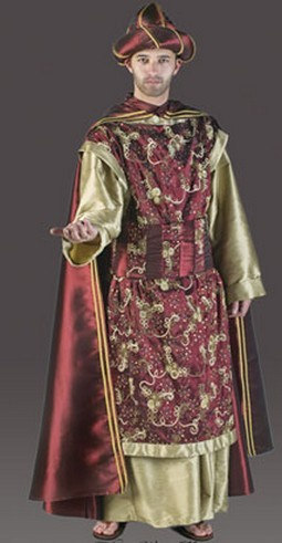 Adult Luxury Wiseman Costume - Merlot