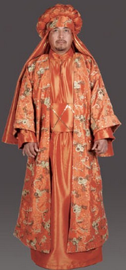 Adult Luxury Wiseman Costume - Tangerine