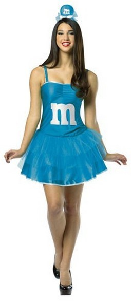 Adult M & M Dress - Blue