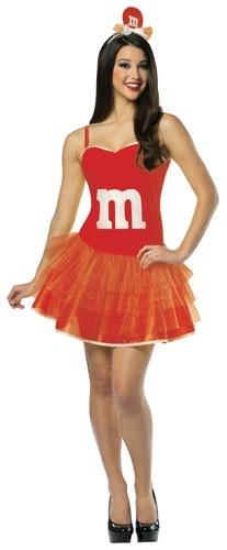 Adult M & M Dress - Red