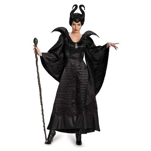 Adult Maleficent Christening Black Gown Deluxe