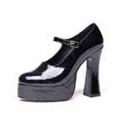 Adult Mary Jane Black Platform Shoes