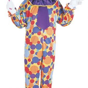 Adult Multi-Colored Clown Costume
