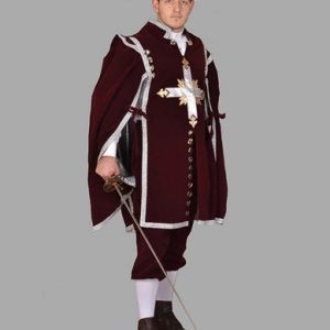 Adult Musketeer Costume ? Burgundy