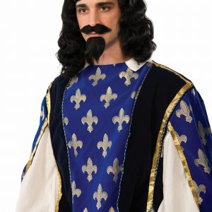 Adult Musketeer Wig & Goatee Set
