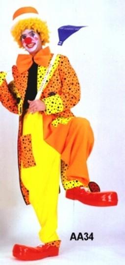 Adult Neon Clown Costume