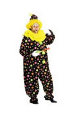 Adult Neon Dotted Clown Costume