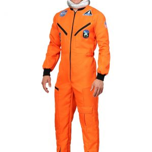 Adult Orange Astronaut Jumpsuit Costume