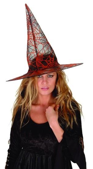 Adult Orange Spider Witch Hat