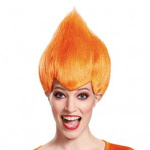 Adult Orange Troll Wig