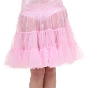 Adult Pink Knee Length Crinoline
