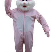 Adult Pink Rabbit Mascot