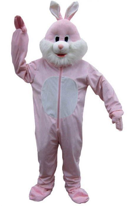 Adult Pink Rabbit Mascot