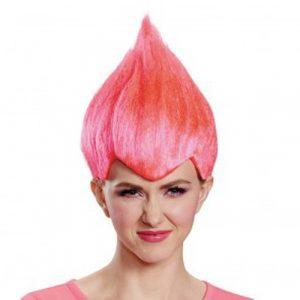 Adult Pink Troll Wig