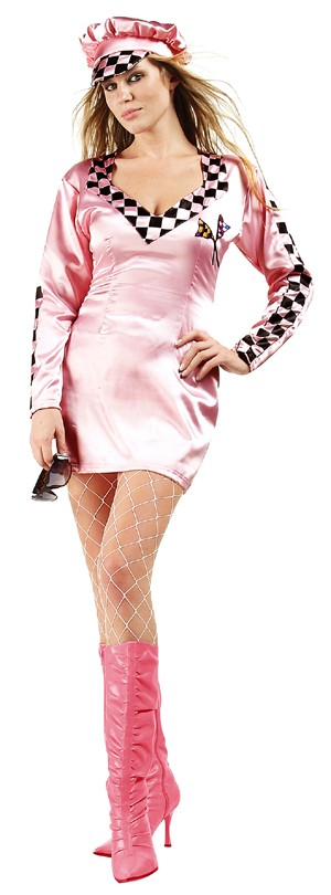 Adult Pink Wheeler Sexy Racing Costume