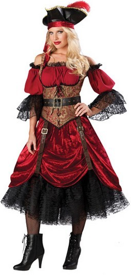 Adult Pirate Costume - Swashbucklin Scarlet
