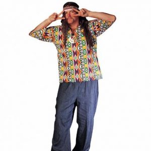 Adult Plus Size 60s Costume Shirt