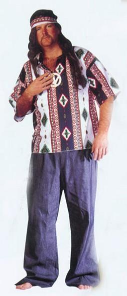 Adult Plus Size Hippie Costume Shirt