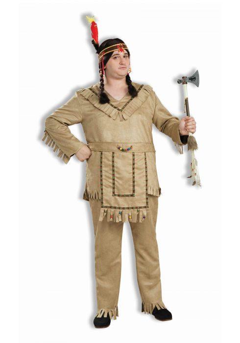 Adult Plus Size Native American Brave Costume