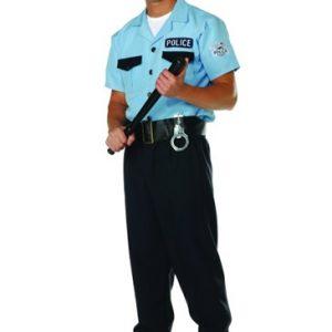 Adult Plus Size Policeman Costume