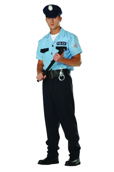 Adult Plus Size Policeman Costume