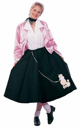 Adult Plus Size Poodle Skirt Costume