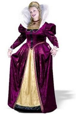 Adult Plus Size Queen Elizabeth Costume