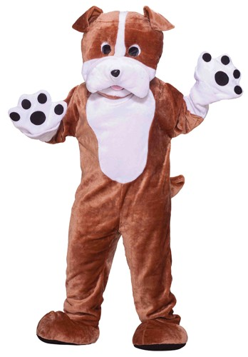 Adult Plush Bulldog Mascot Costume