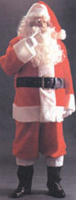Adult Plush Santa Suit Costume