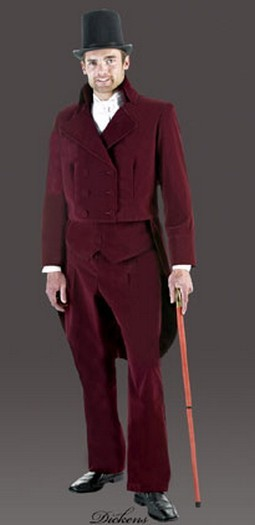 Adult Poinsettia Dickensian Suit Costume
