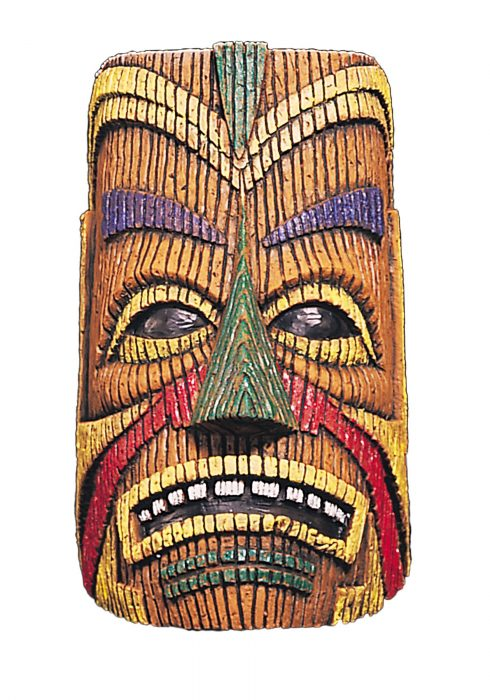 Adult Polynesian Overhead Tiki Latex Mask
