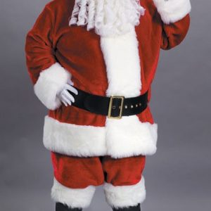 Adult Premium Plush Red Santa Suit Costume