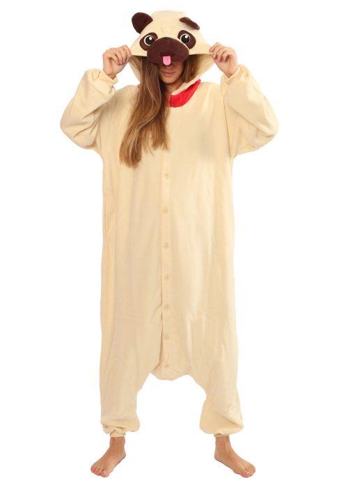 Adult Pug Kigurumi Pajama Costume
