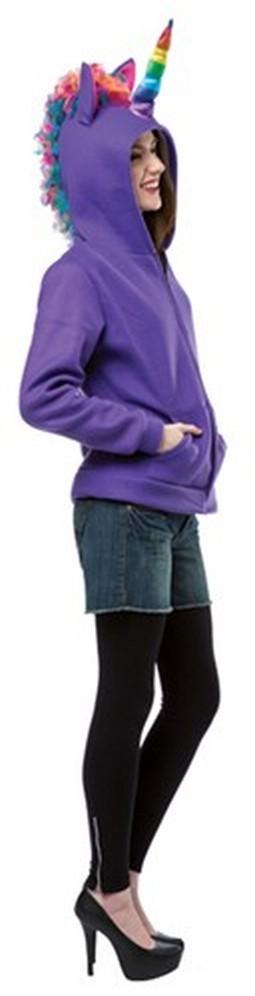 Adult Purple Unicorn Hoodie