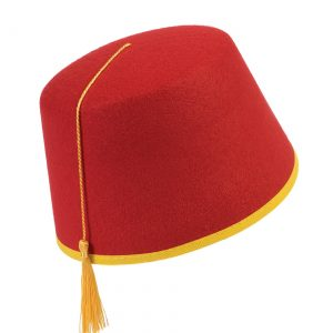 Adult Red Fez Hat