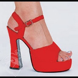 Adult Red Leather Platform Shoes