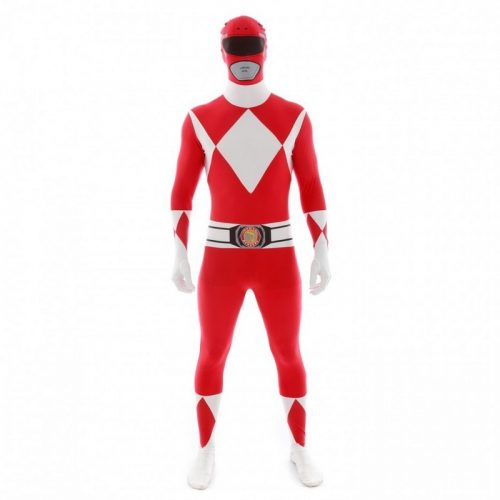Adult Red Power Rangers Morphsuit