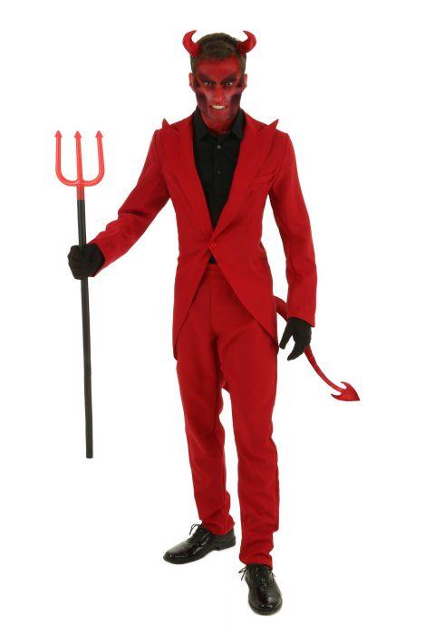 Adult Red Suit Devil Costume