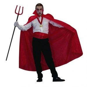 Adult Red Taffeta Vampire Cape