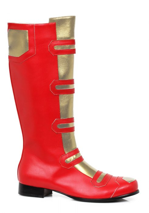 Adult Red and Gold Hero Boots