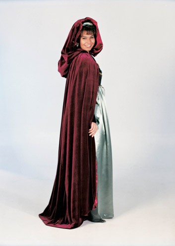 Adult Renaissance Cloak - Burgundy