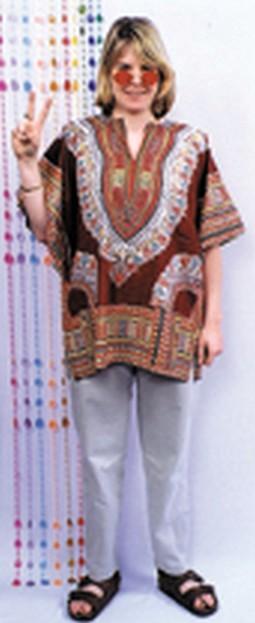 Adult Retro Sheik Hippy Costume Shirt