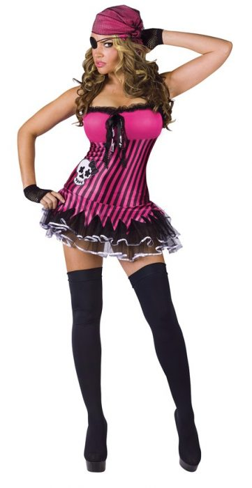 Adult Rockin' Skull Pirate Costume