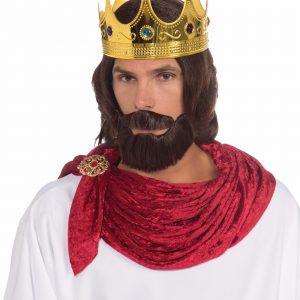 Adult Royal King Wig And Beard Set