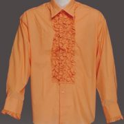Adult Ruffled Tuxedo Shirt - Orange