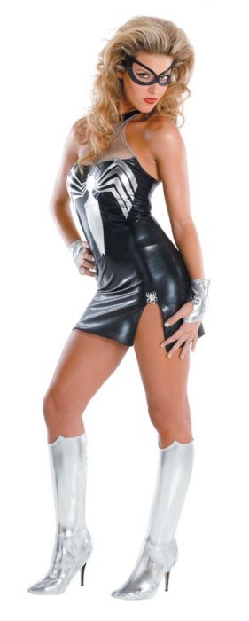 Adult Sassy Deluxe Black Spidergirl Costume