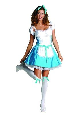 Adult Satin Alice Costume