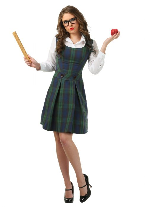 Adult School Girl Plus Size Costume