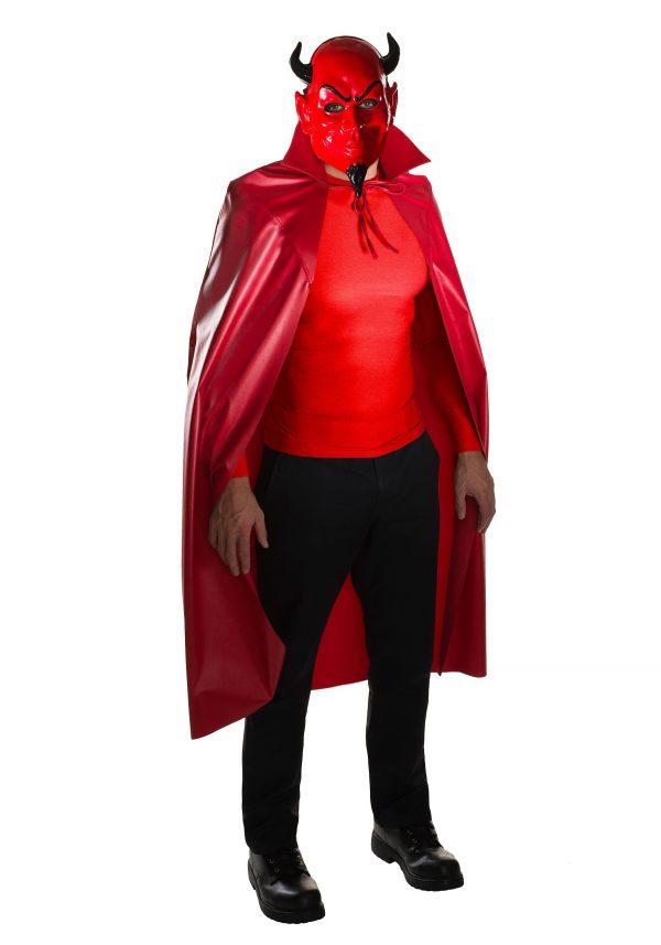 Adult Scream Queens Devil Mask & Cape Set
